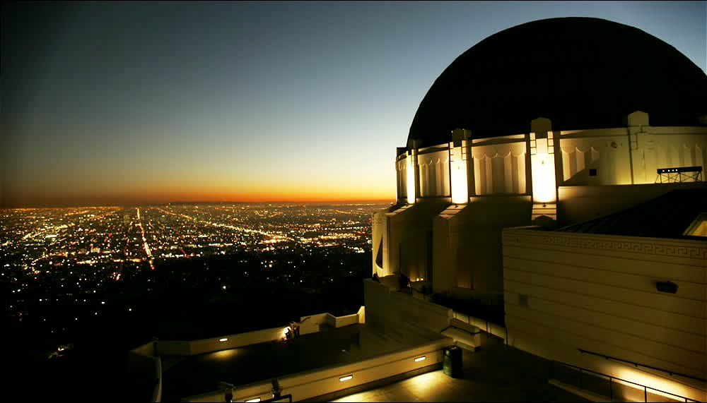 title: Night View of the Griffith Observatory in Los Angeles