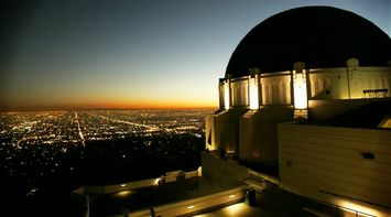 title: Griffith Observatory at night