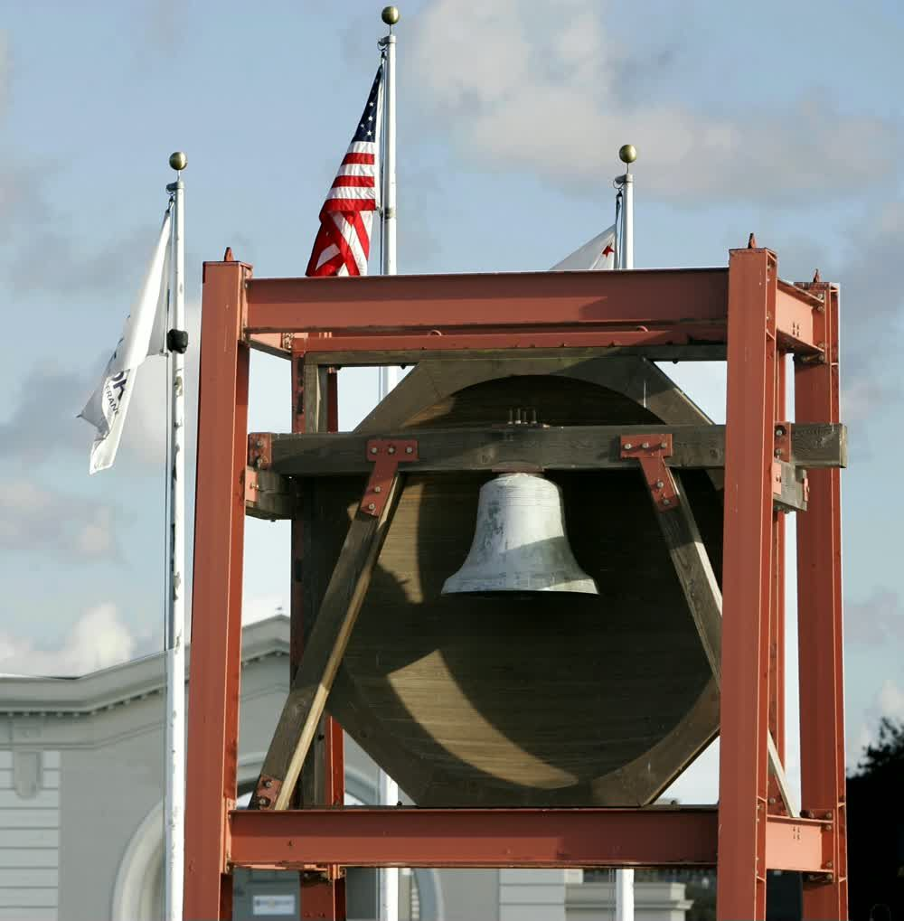 title: Old Bell at the Fishermans Wharf of San Francisco