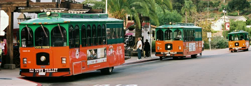 title: Trolley at San Diego
