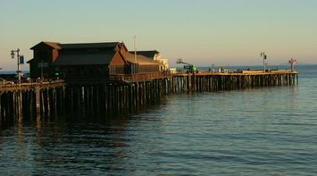 title: Picturesque Pier of Newport Beach at Sunset