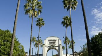 title: Red Carpet Entrance to Universal Studios in Los Angeles