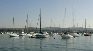 title: Sailing Boats on the Port of Stearns Wharf