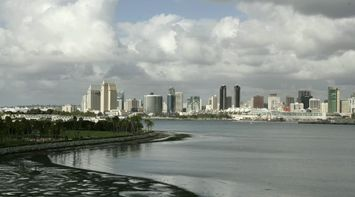 title: San Diego Beach and Cityscape in California