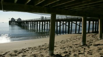 title: Sandy Shores at the Malibu Beach Pier in LA