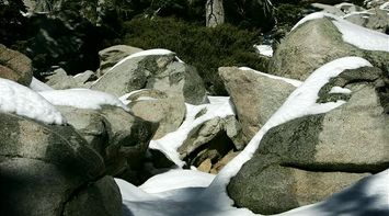 title: Snow on Rocks in Palm Springs