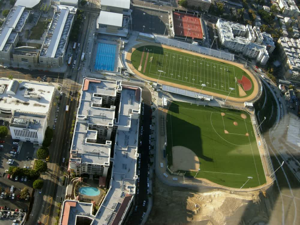 title: Sports Fields and Stadiums in LA from the Sky