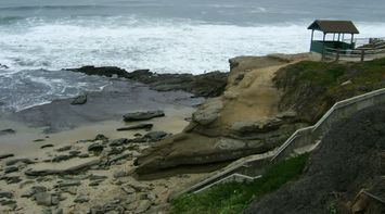 title: Stairs Leading to the Sandy Beach of La Jolla San Diego
