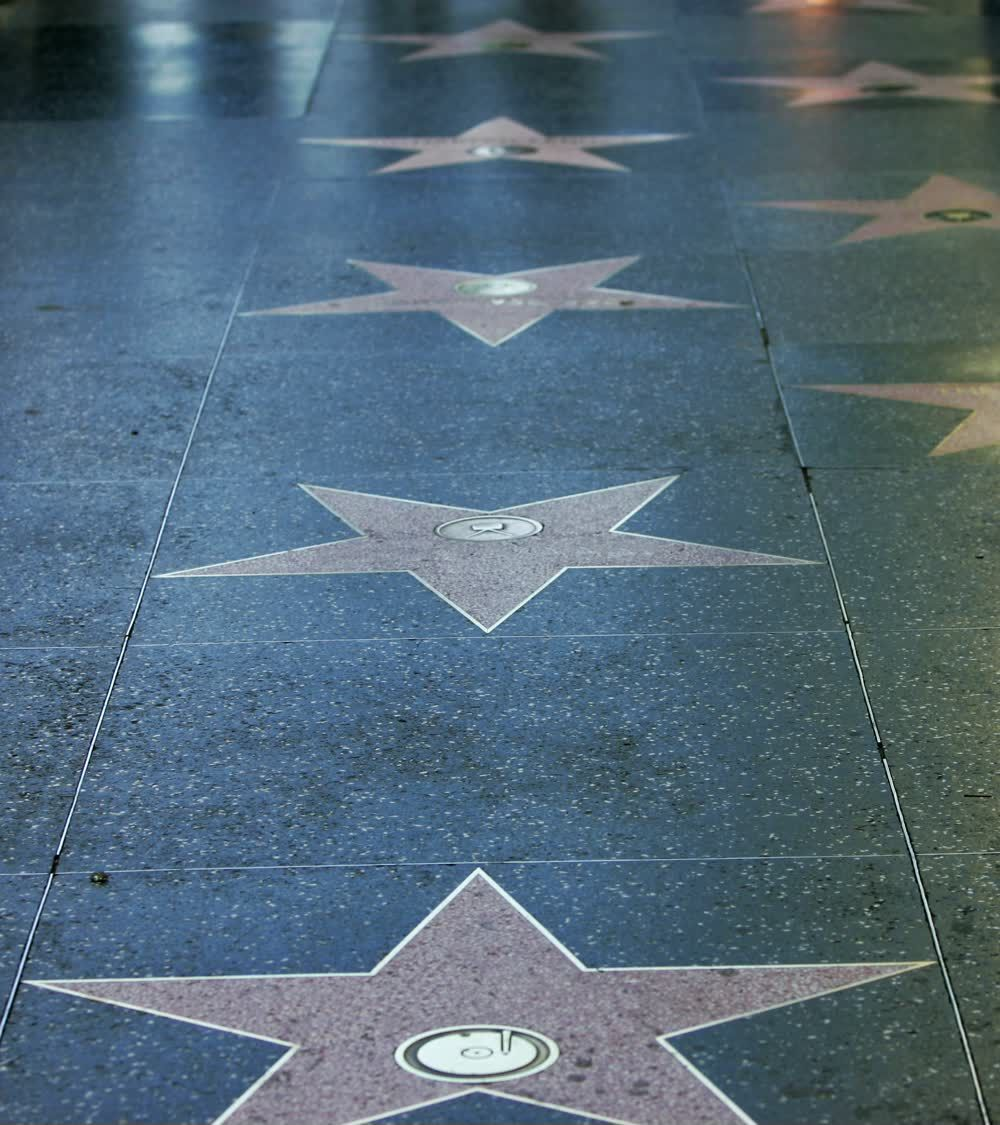 title: Stars on the Floor of Hollywood Boulevard in Los Angeles