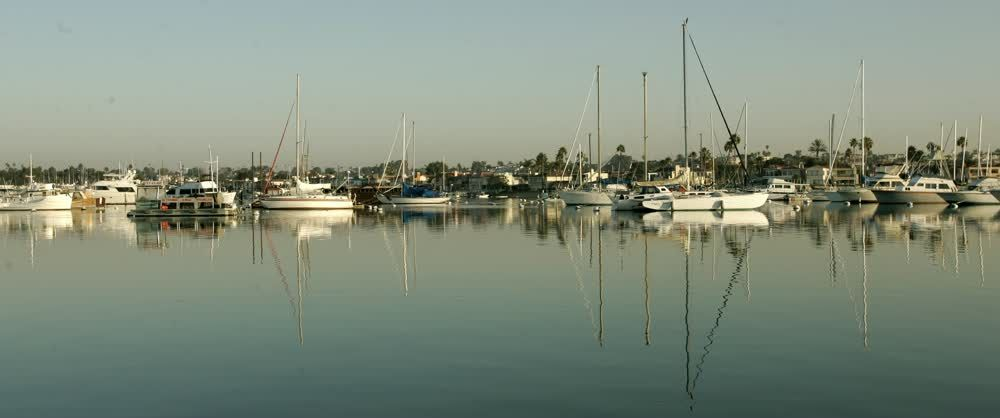 title: Still Waters of the Stearns Wharf Harbor