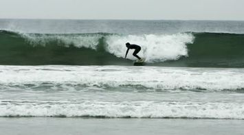 title: Surfer Surfing the Waves of La Jolla in San Diego