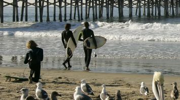 title: Surfers at Newport Beach 1