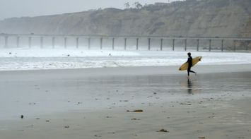 title: Surfers at the Beach La Jolla in San Diego
