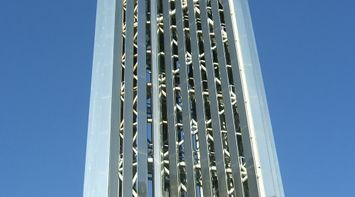 title: Tall Monument Tower Structure of Crystal Cathedral in Garden Grove Orange County