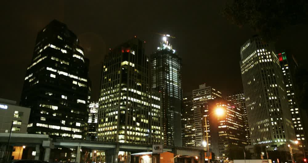 title: San Francisco building at night