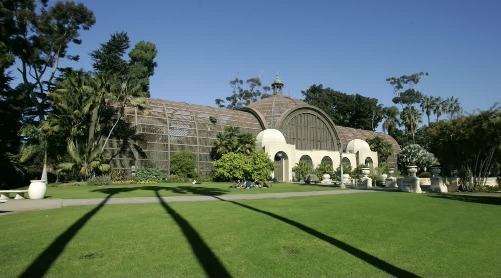 title: The Botanical Building Greenhouse of Balboa Park in San Diego