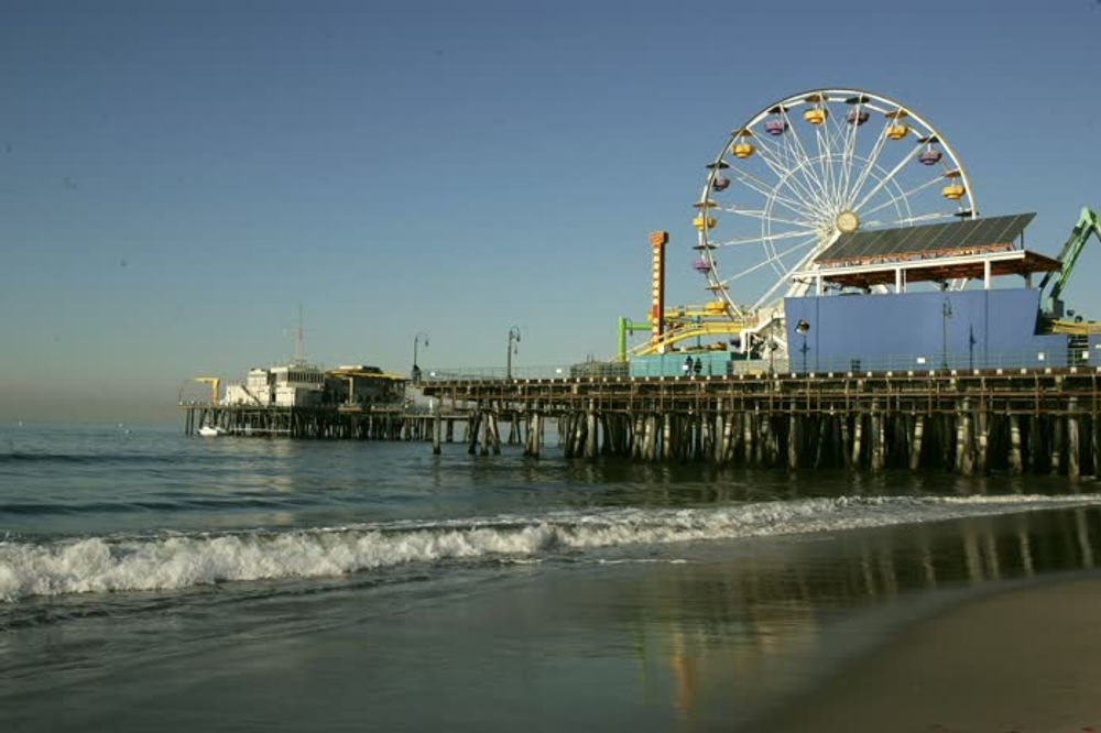 title: The Luna Park of Santa Monica Seen from the Beach Pier