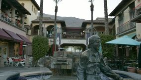 title: Sonny Bono Statue at Mercado Plaza