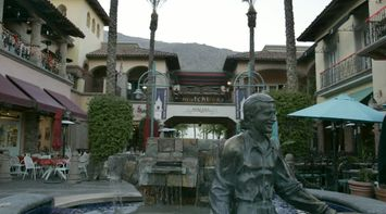 title: The Mercado Plaza Bronze Statue in Palm Springs California