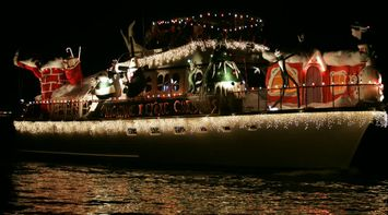 title: The Nightmare before Christmas Theme Boat on Newport Beach