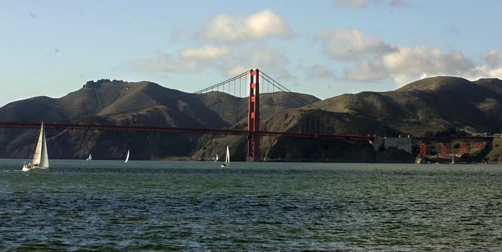 title: The Renowned Red Golden Gate Bridge of San Francisco