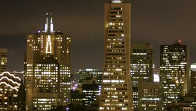 title: Transamerica Pyramid at night