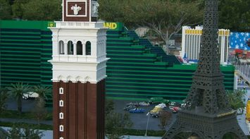 title: Tour Eiffel Miniature Lego Statue at Legoland