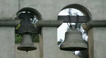 title: Two Old Bells Ringing in San Diego at Balboa Park