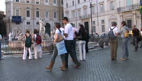 Italy Rome Tourists
