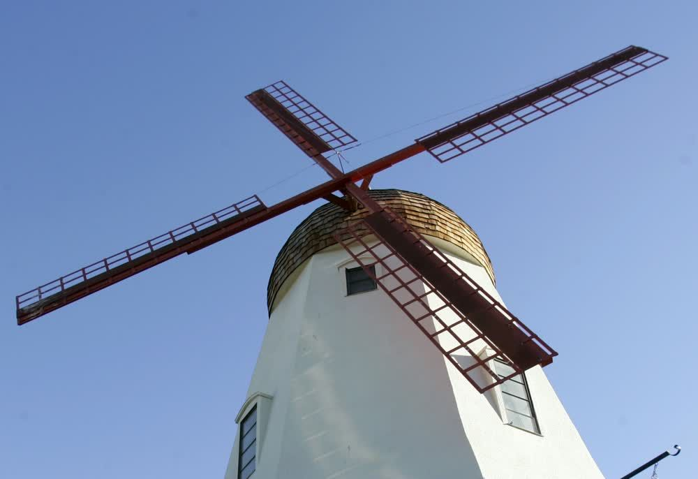 title: A View from Below of the Danish Traditional Windmill