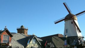 title: Danish Windmill in Town