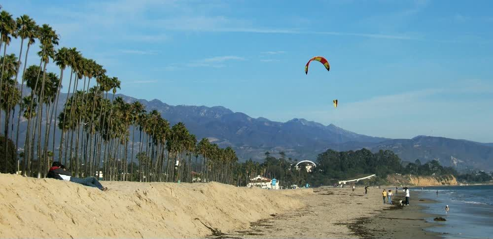 title: Fun Paragliding Activities at the Beach of Santa Barbara