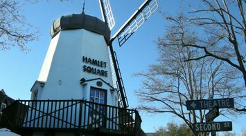 title: Hamlet Square Wooden Traditional Windmill in Solvang