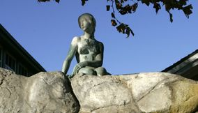 title: Lady statue in Danish Town