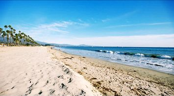 title: The Peaceful Beach of Santa Barbara and Ocean