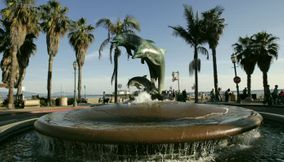 Santa Barbara s Dolphin Fountain