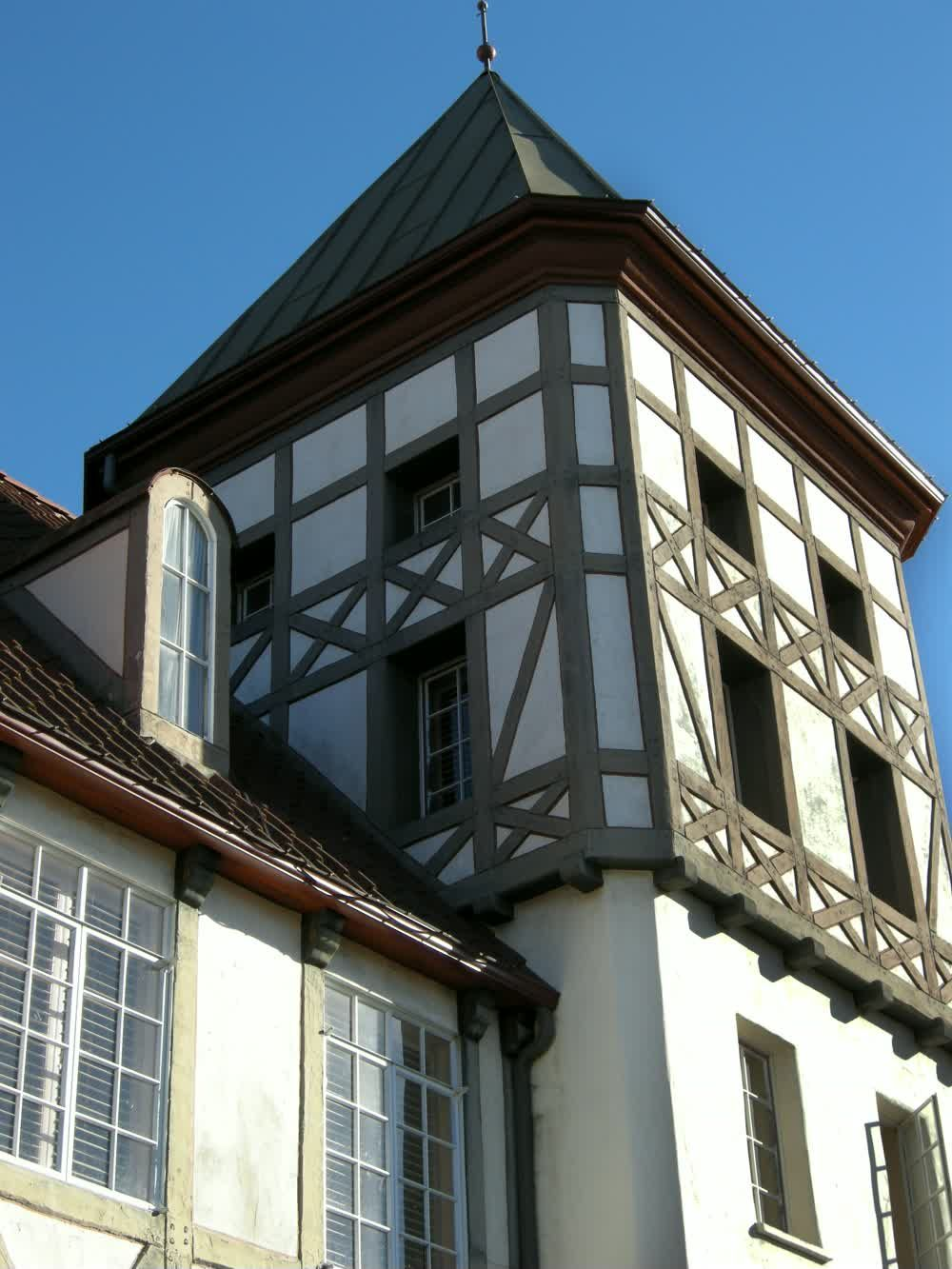 title: Typical Danish Half Timber Frame Architecture