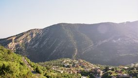 title: A View of the Village Below the Cedars