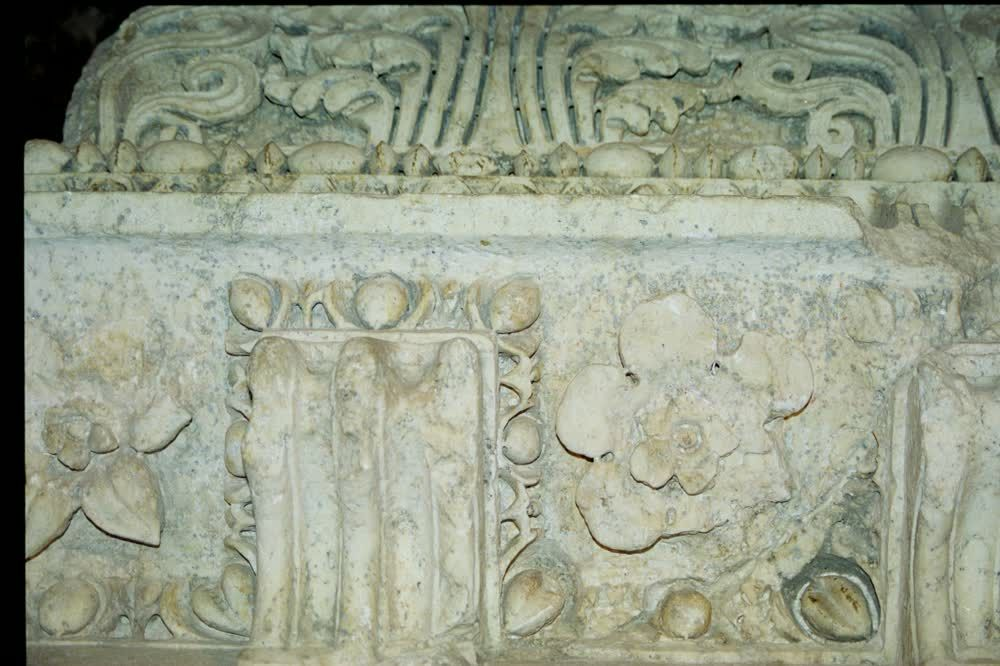 title: Age Old Stone Carvings on Roman Site