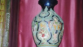 title: Antique Colorful Vase Found inside the Palace