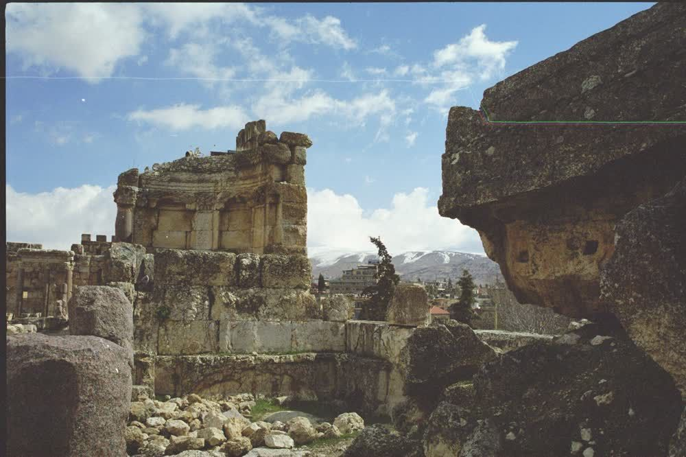 title: Baalbeck Old Stone Roman Ruins