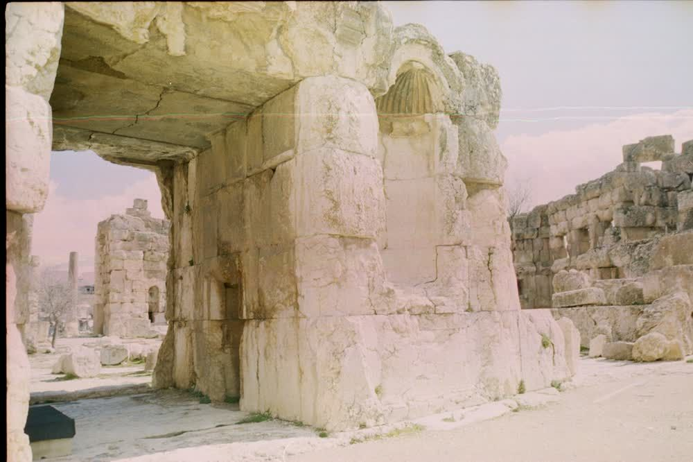 title: Baalbeck Site Ruins of Roman Settlement