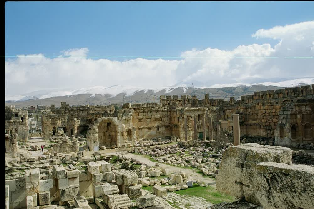 title: Baalbeck Stone Complex of Ruins of Site