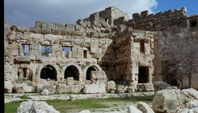 title: Baalbeck Stone Ruins and Temples