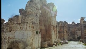 Baalbeck near the Longest River of Lebanon the Litani