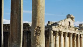 title: Bacchus Temple of Baalbeck in Stone