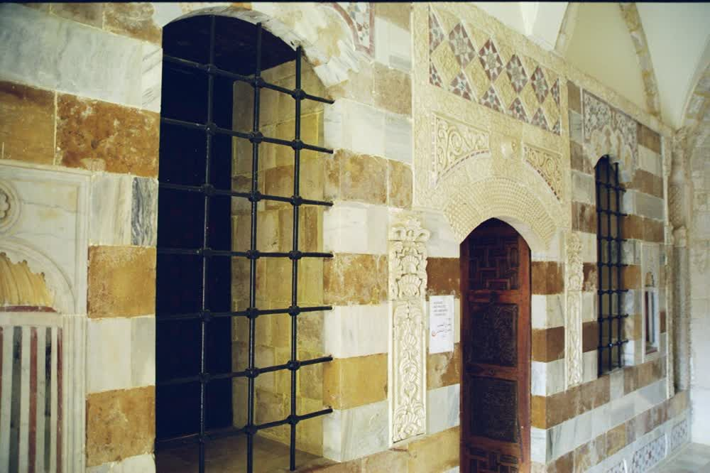 title: Beiteddine Palace Walls and Barred Windows