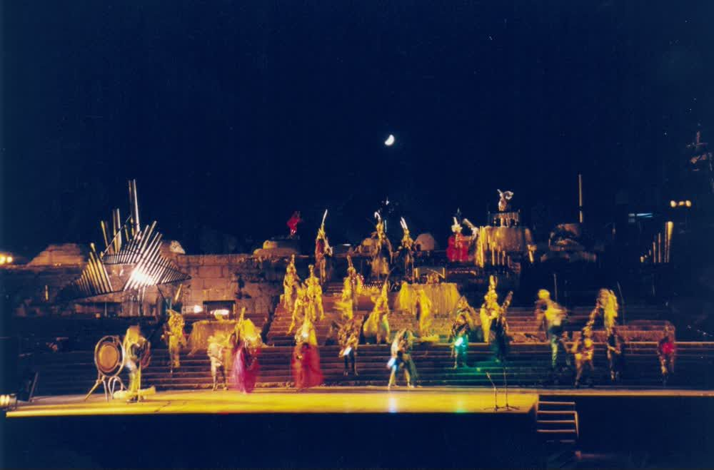 Caracalla Dance on Stage During Baalbeck Festival