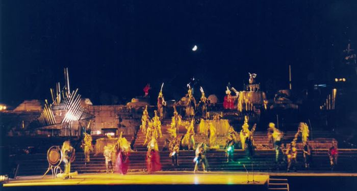 title: Caracalla Dance on Stage During Baalbeck Festival