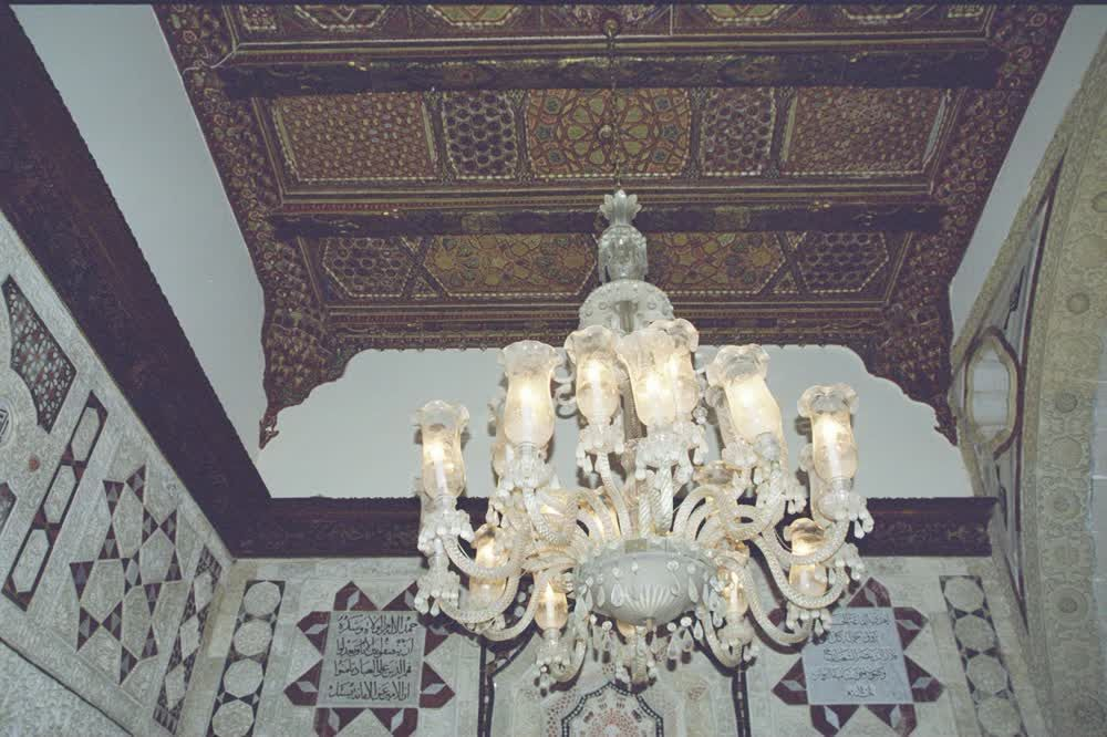 Chandelier and Ceiling Detail at the Palace